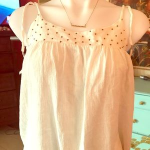 🦄 3/$30 Cute Roxy top, Flowy boho style, Sz M
